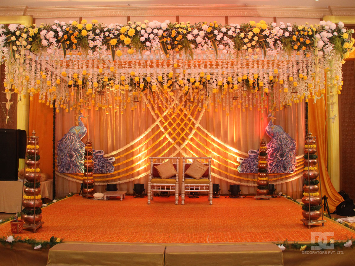 Wedding decoration mandap indoor for Photo decoration